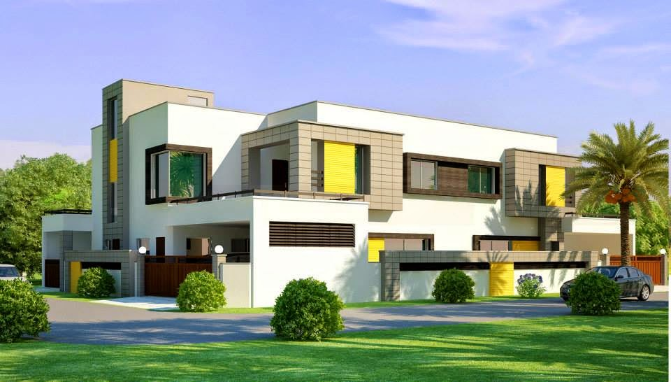 House Design Lahore Beautiful House 1 Kanal Modern 3D Front elevation ...