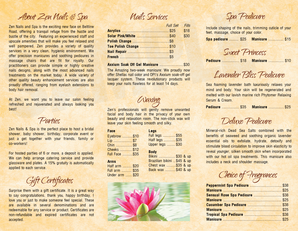 Zen Nails And Spa Prices