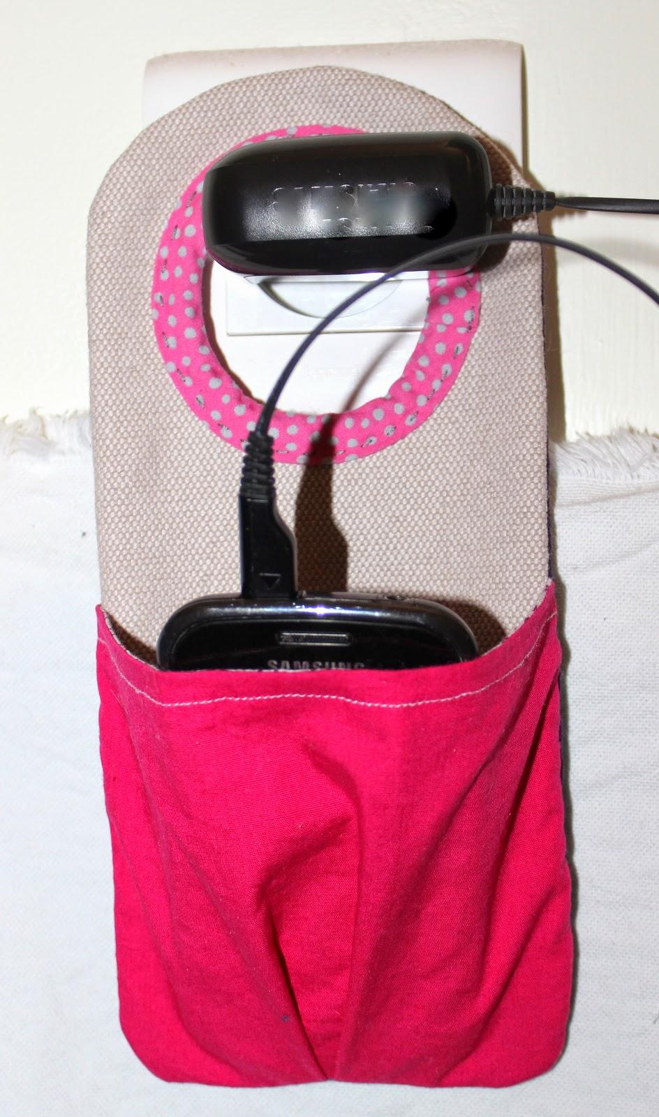 Miel th couture porte chargeur de t l phone d 39 appareil for Porte telephone