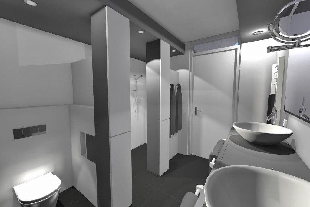 Arnoud herberts interieurarchitect badkamer 3d ontwerpen for Ontwerp badkamer 3d