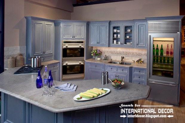 How to make beautiful kitchen renovation, classic wood blue kitchen