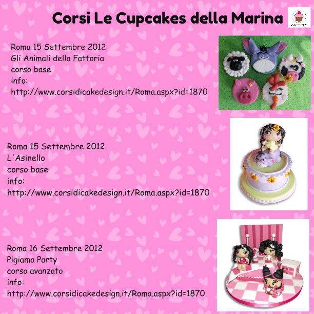 Le cupcakes della marina corsi cake design roma settembre for Corsi design roma