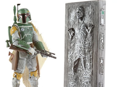 San Diego Comic-Con 2013 Exclusive Boba Fett Star Wars Black Series Action Figure with Han Solo in Carbonite by Hasbro
