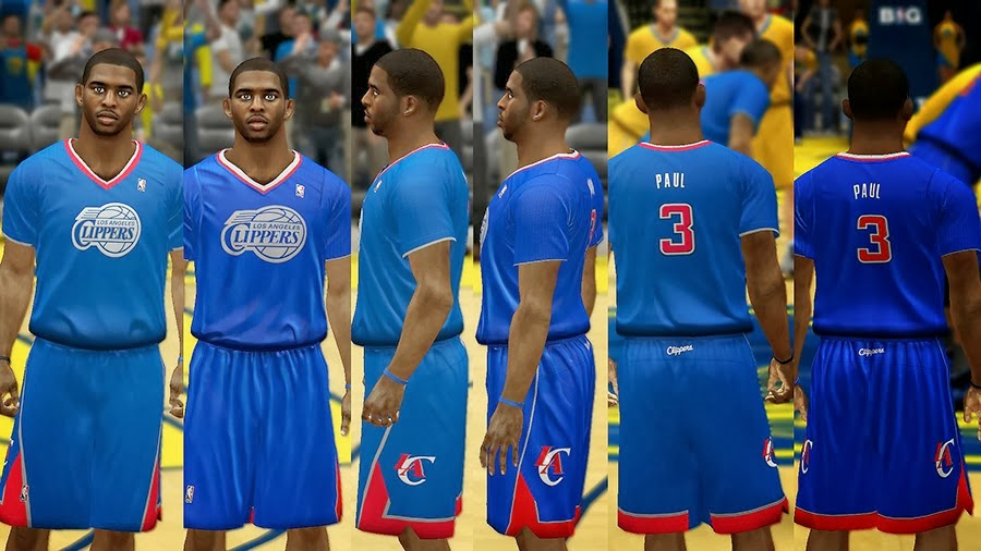NBA 2K14 Christmas Day Uniform - LA Clippers