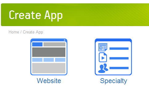 Create app using website