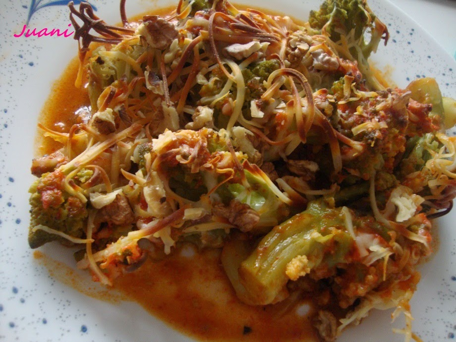 Las cosillas que hago romanesco al horno con salsa de - Salsa para verduras al horno ...