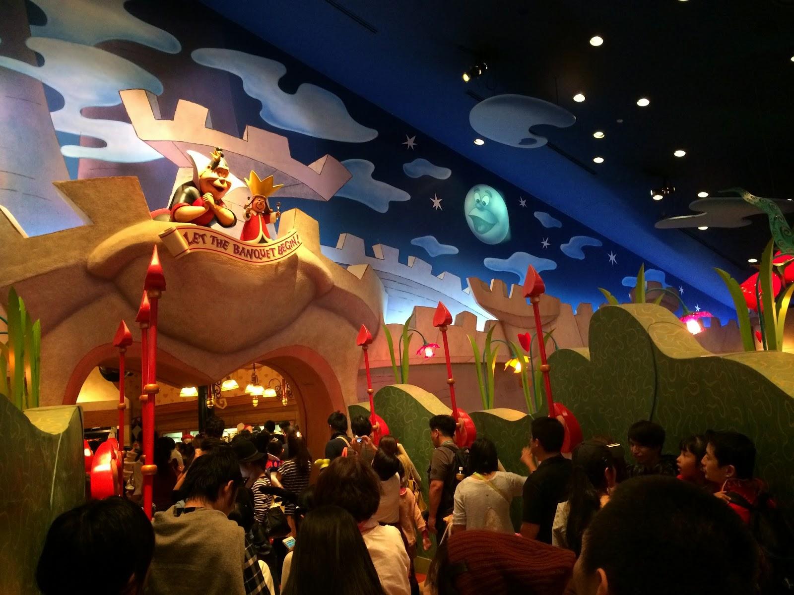 Tokyo Disneyland queen of hearts restaurant