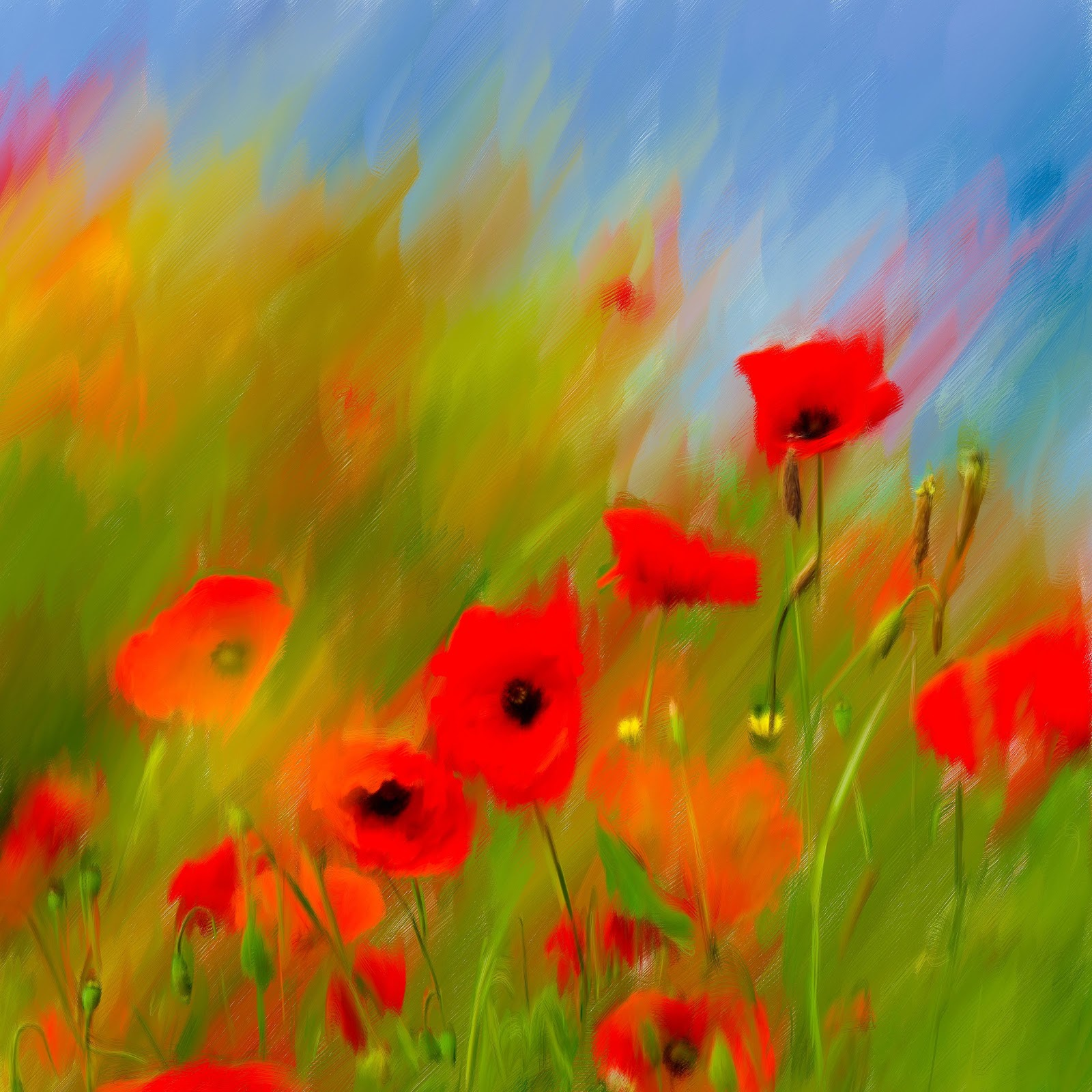 Poppy Painting For Sale