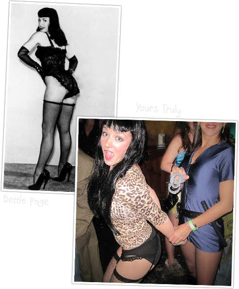 Bettie Page and Amy Being Scandalous in Fishnets