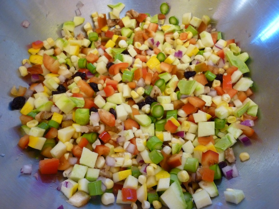 Chopped Vegetable Salad With Lemon-Garlic Dressing Recipes ...