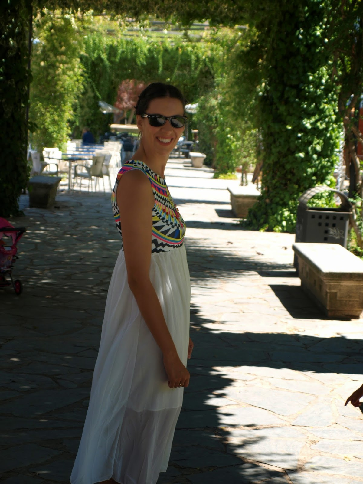 Vestido blanco sheinside
