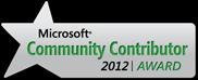Microsoft Community Contributor 2012