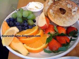फलों के विरुद्ध भोजन