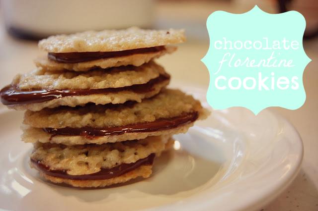 Chocolate Florentine Cookies - Something Swanky