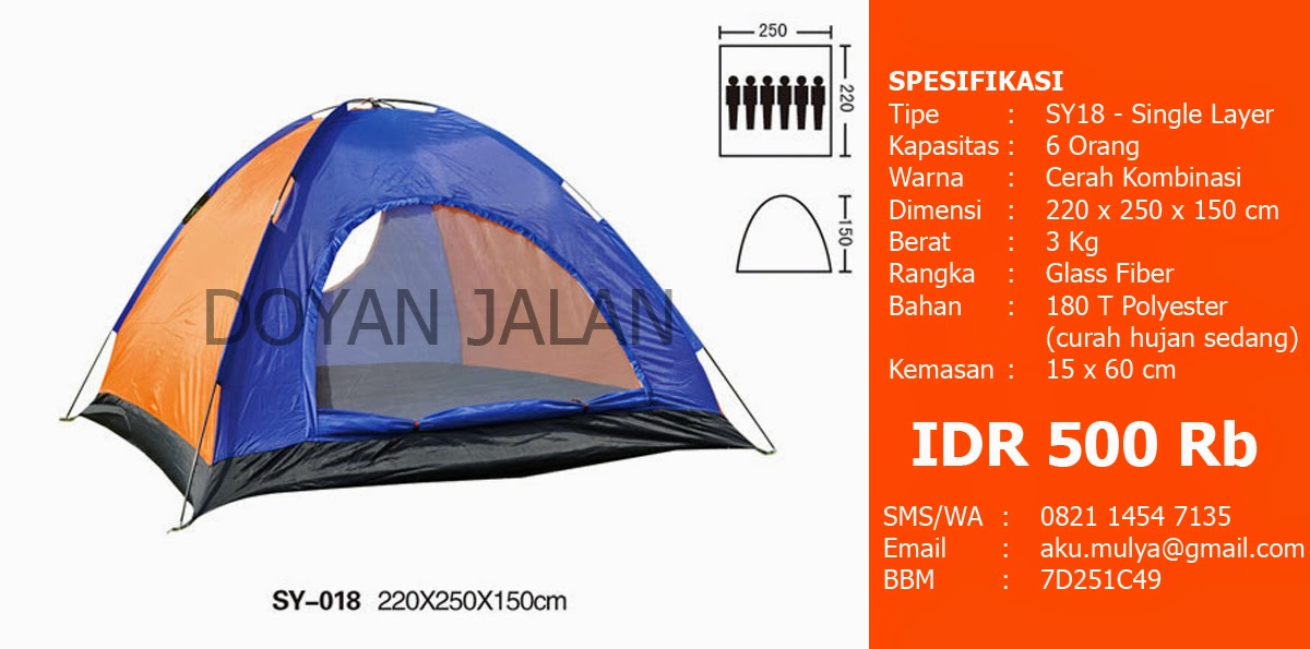 Tenda Dome Kapasitas 6 Orang