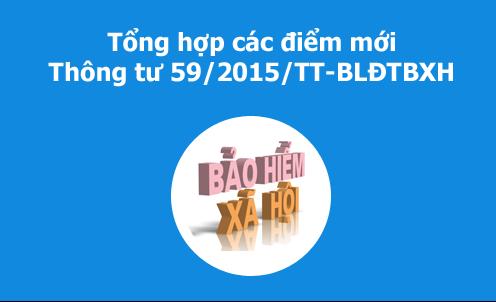 Thông tư số 59/2015/TT-BLĐTBXH