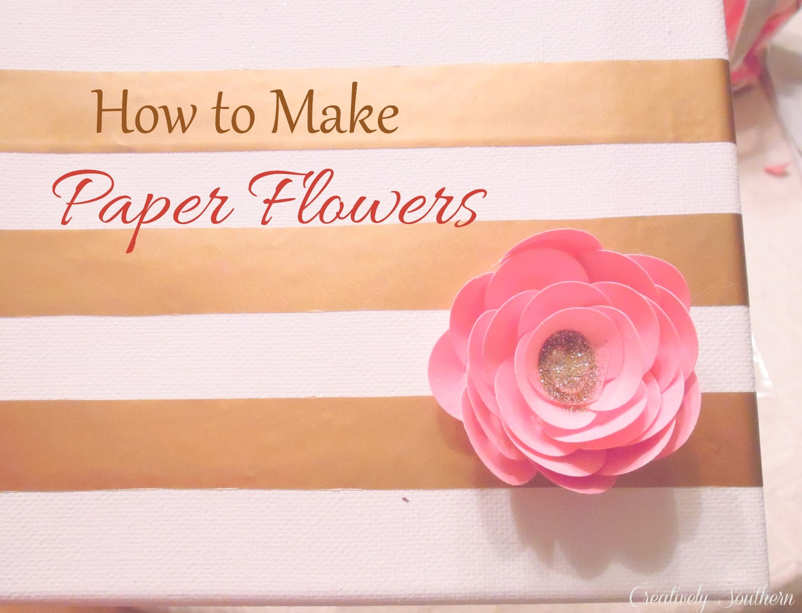 How to make elegant paper flowers creatively southern how to make paper flowers craft mightylinksfo Images