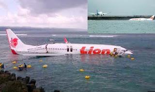 Pesawat Lion Air 737 800 Jatuh di Bali