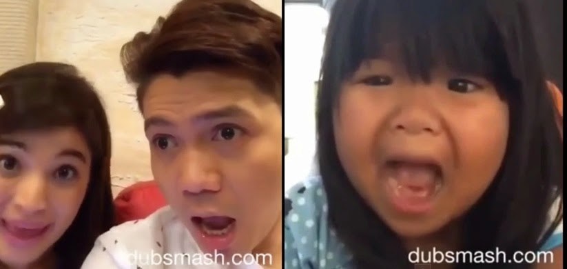 'Aling Maliit' Ryzza Mae Dizon, Showtime co-hosts Vhong Navarro and Anne Curtis doing Dubsmash
