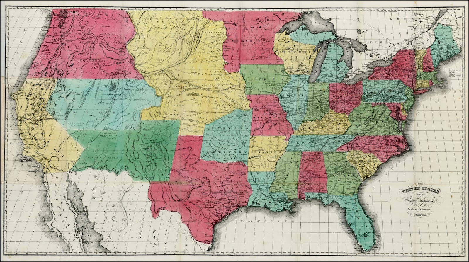 Antique Prints Blog The Origins Of The Nebraska Territory - Show nebraska on us map