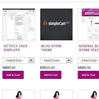 Add to Cart Blogger e-commerce feature