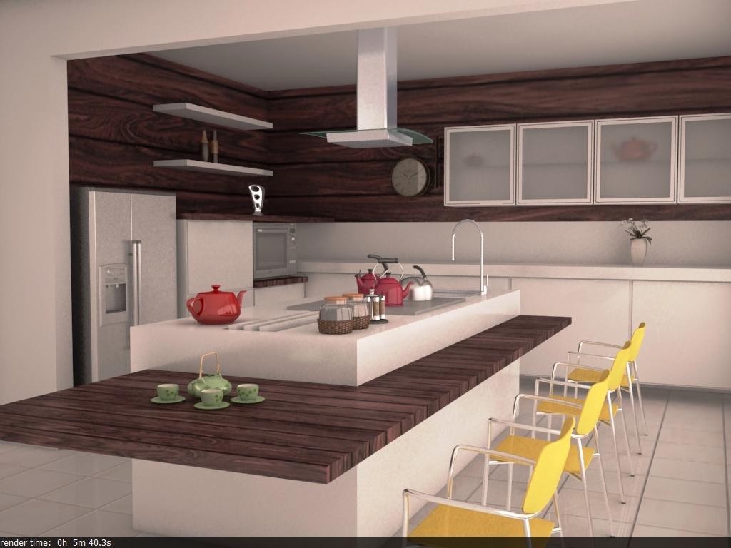 Cenário 3D: Cozinha #AE7D1E 1024 768