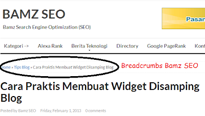 Cara Membuat Breadcrumbs SEO Friendly di Blogspot/Blogger