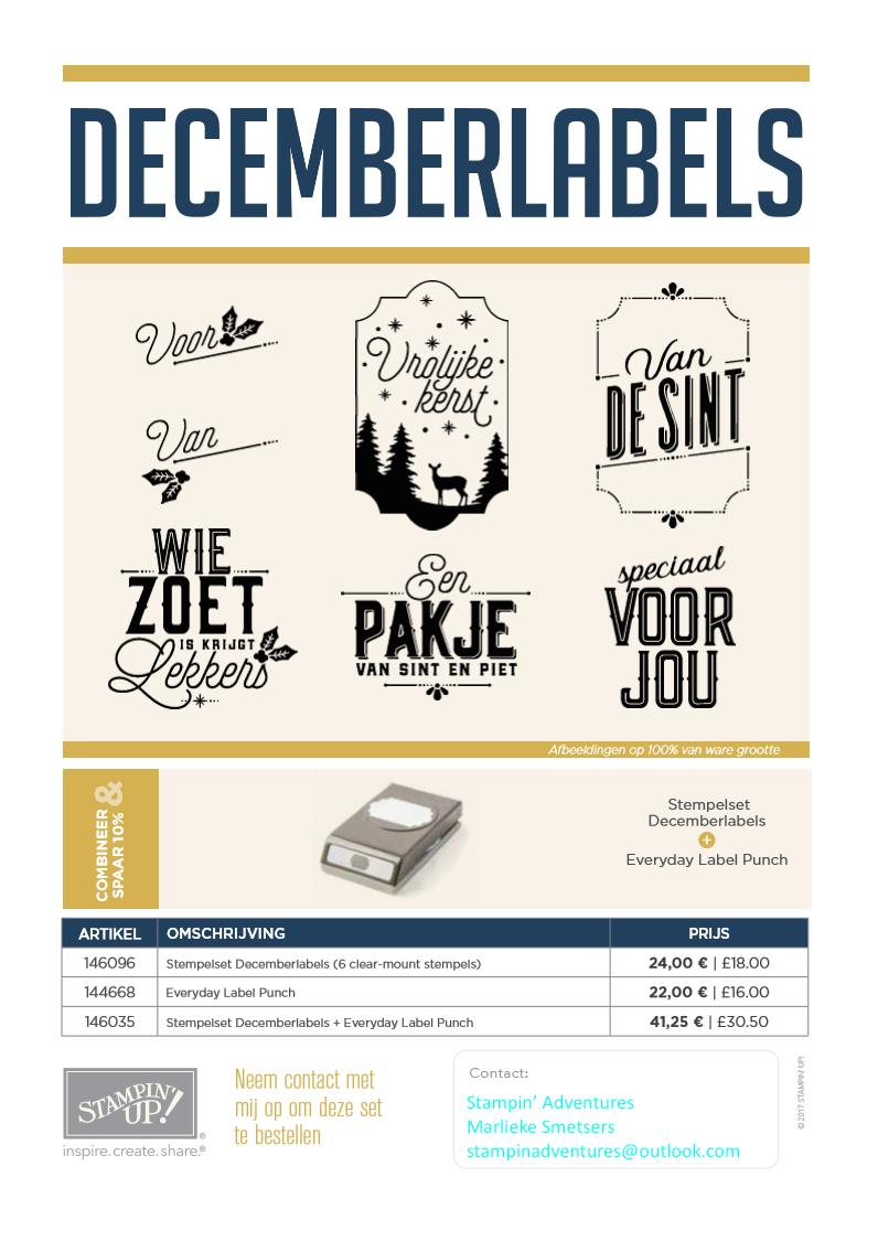 Nederlandstalige stempelset Sint-Kerst