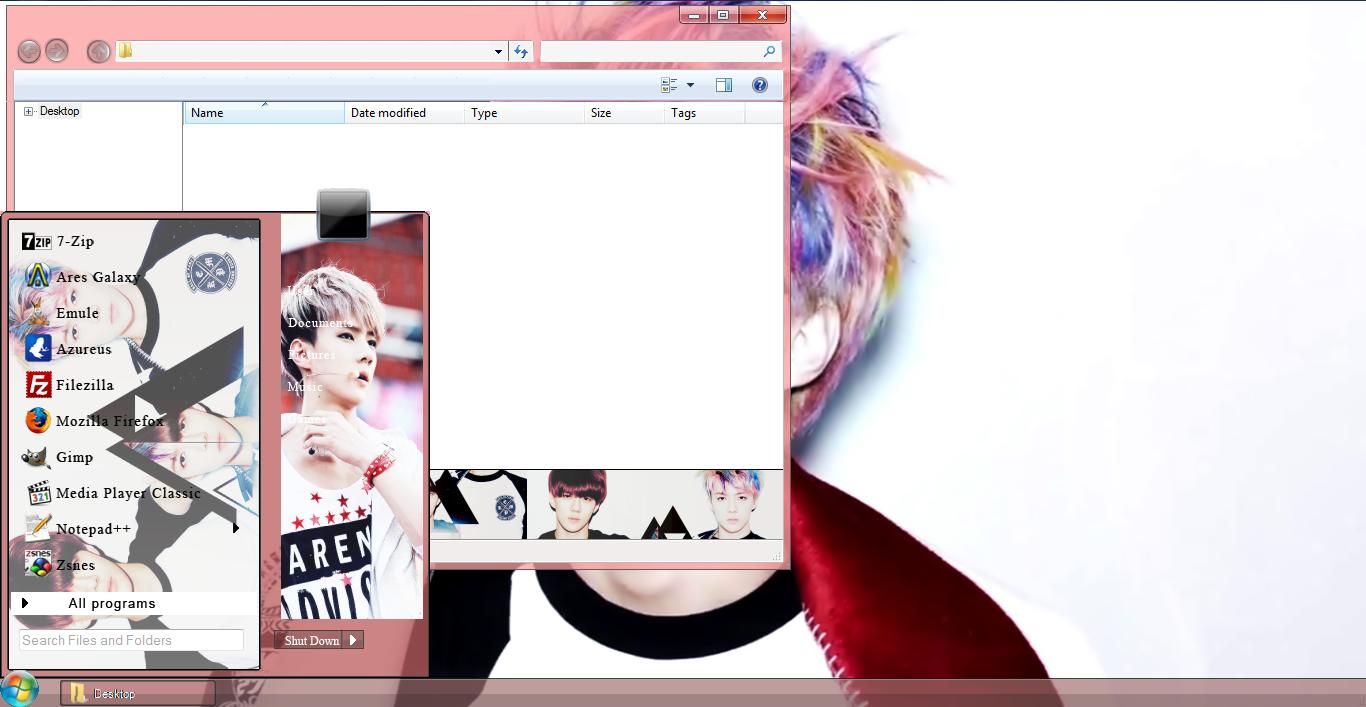 Google theme kpop exo - Sehun Exo Windows 7 Theme Link 8 6 Mb Preview