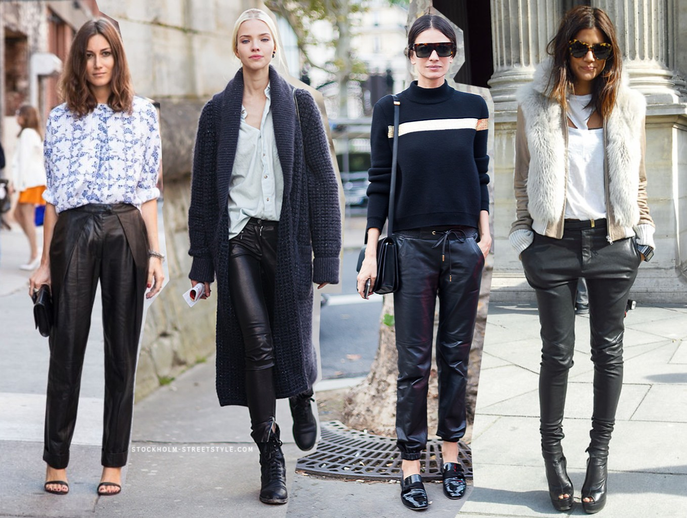 Ways To Wear The Leather Trousers Trend