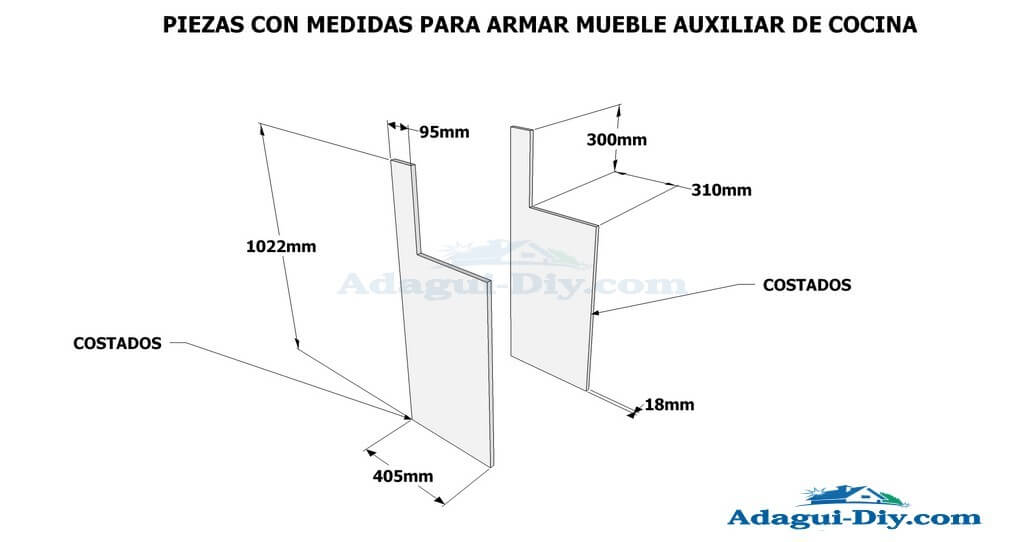 Planos de muebles como hacer muebles de cocina mueble for Medidas estandar de cajones de cocina