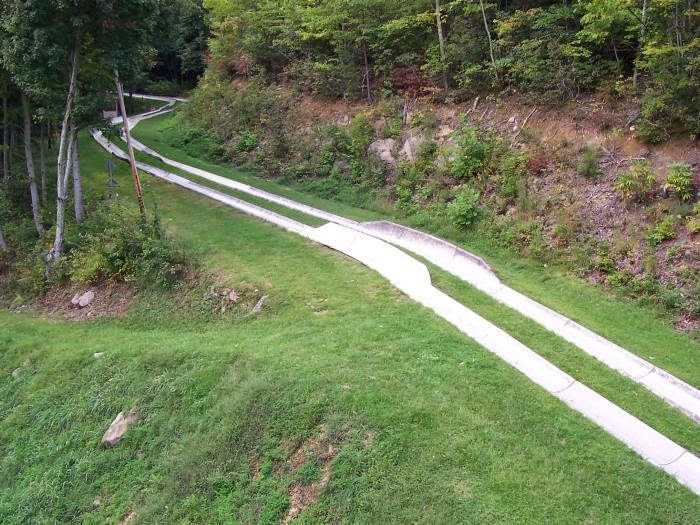ober gatlinburg alpine slide aerial view