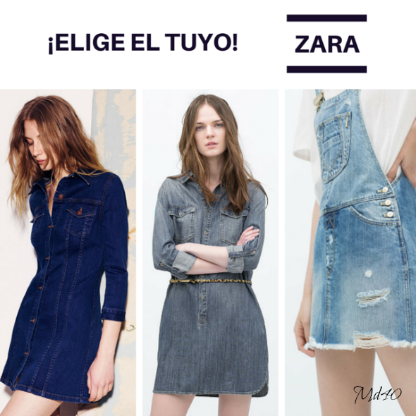 Little Denim Dress LDD varios Zara fondo de armario
