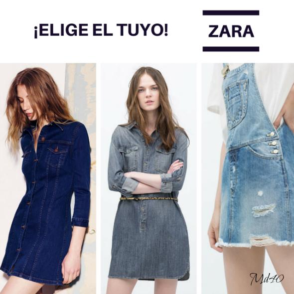 Little Denim Dress LDD varios Zara fondo de armario
