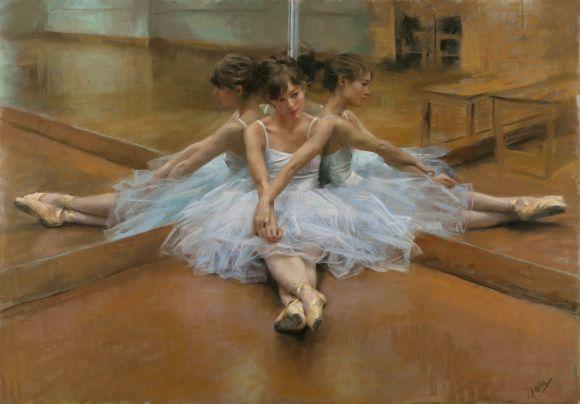 Vicente Romero pinturas mulheres impressionistas beleza Bailarina