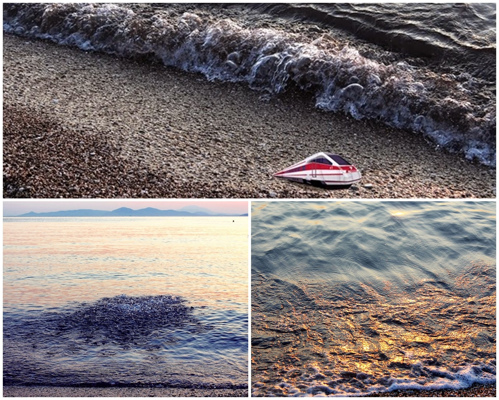 a sunday morning spent at the beach collage