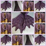 TE KOOP: zijden/ merino sjaal met kralen ingebreid,lang: 2.40 cm