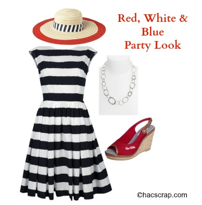 Red, White and Blue Party Outfit Idea