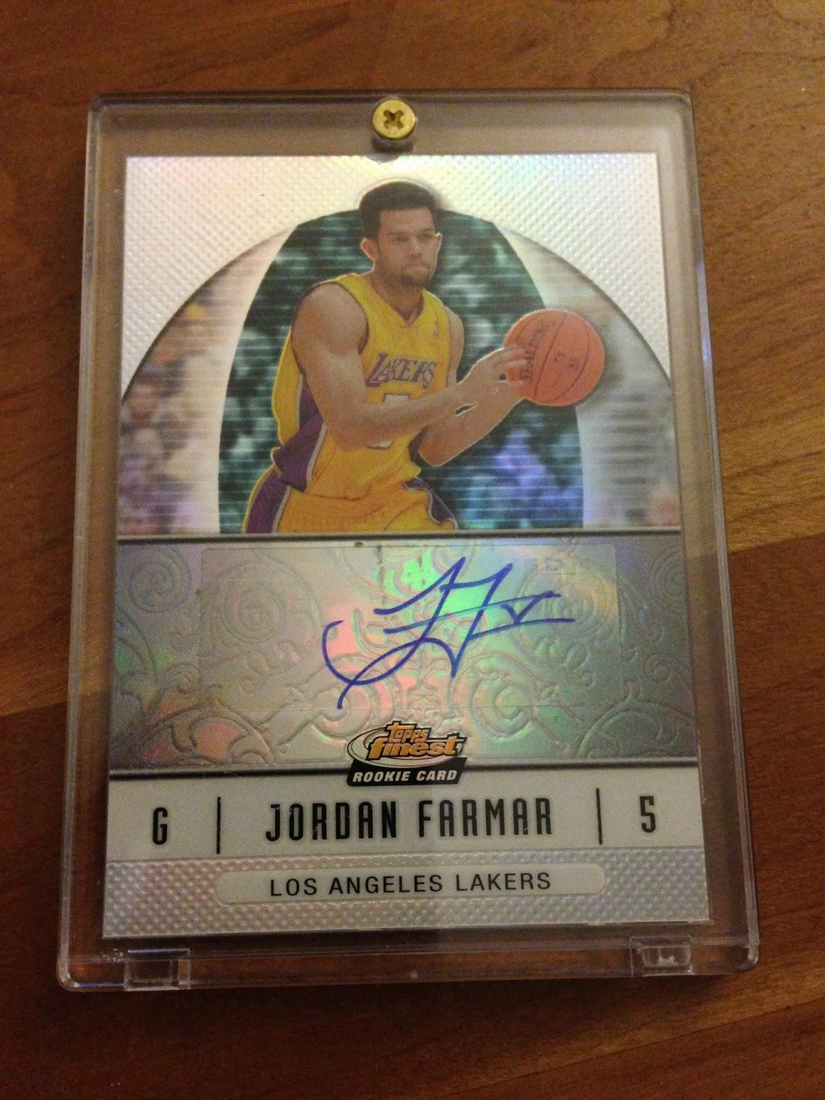 Jordan Farmar Rookie Autograph auto card free sweepstakes los angeles lakers NBA