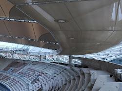 ** Perspectivas diferentes de las obras del estadio