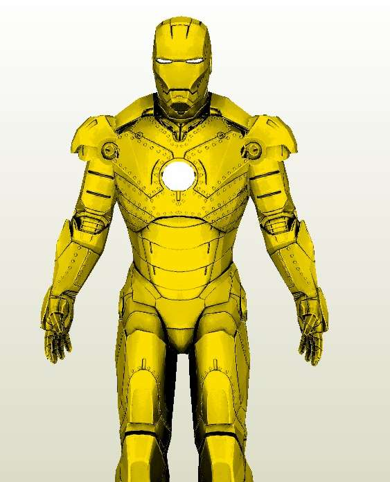 Iron Man Armor MK II Silver and Gold