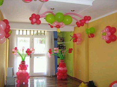 Decoracion de fiestas infantiles con flores for Decoracion techos infantiles
