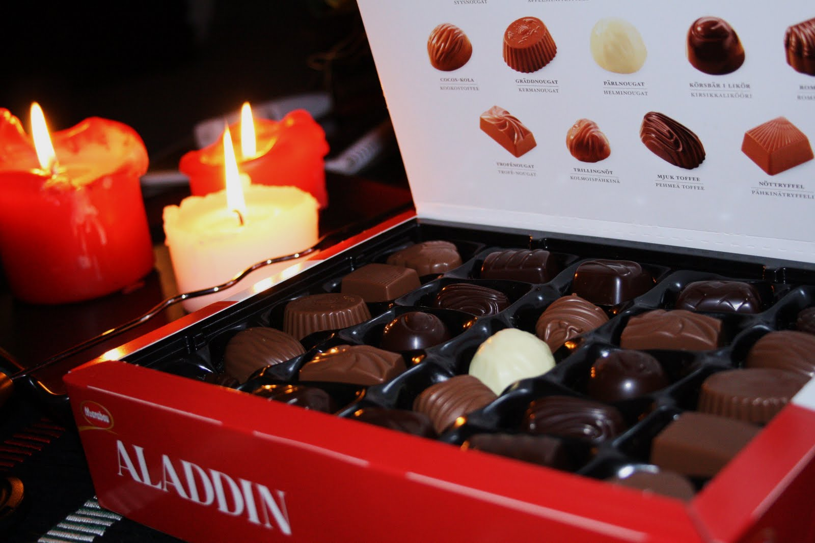 aladdin choklad sorter