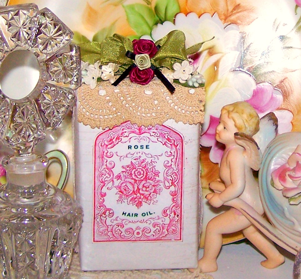 Olivia\'s Romantic Home: Cereal Box turned Vintage Rose Decor!