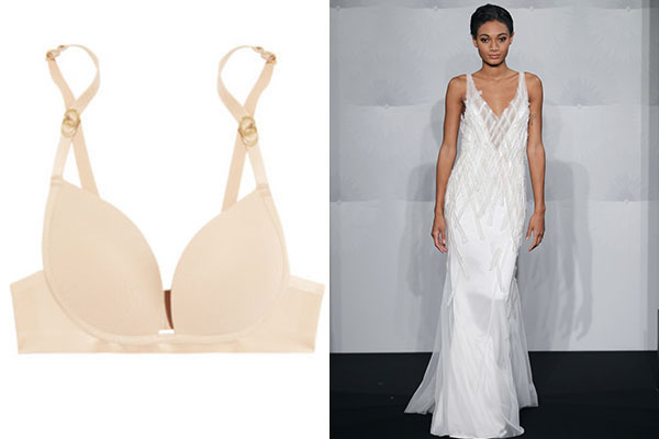 bra for slinky sheath bridal dress