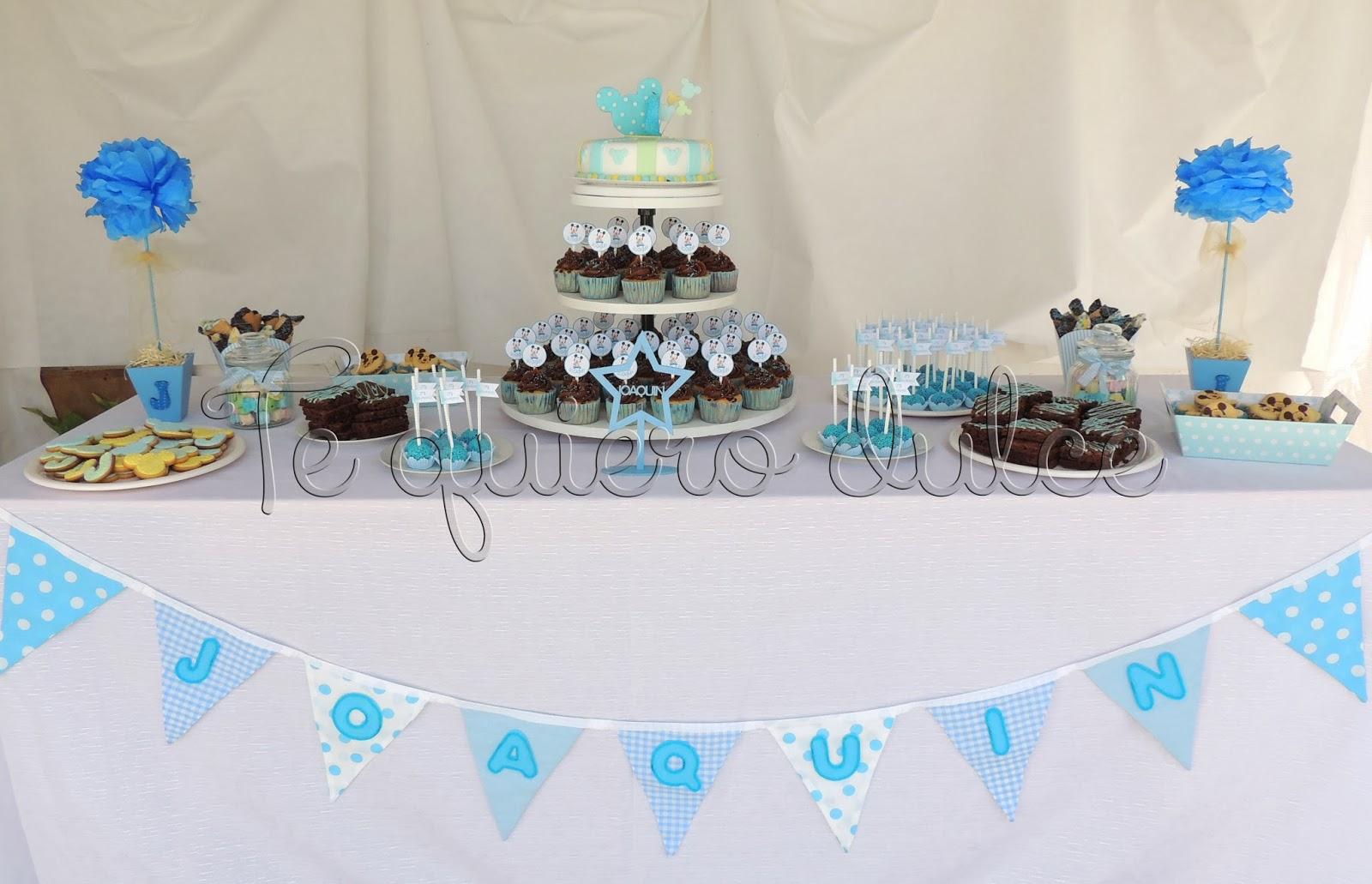 Te quiero dulce mesa dulce para bautismo for Mesa dulce para bautismo