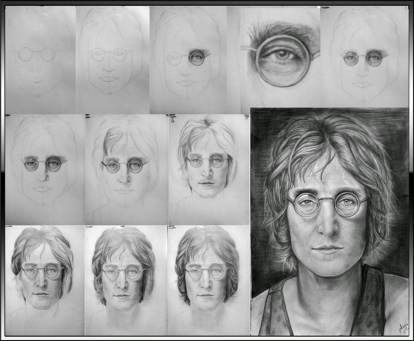 Retratos realistas y dibujos retrato realista de john - Retrato oleo paso a paso ...