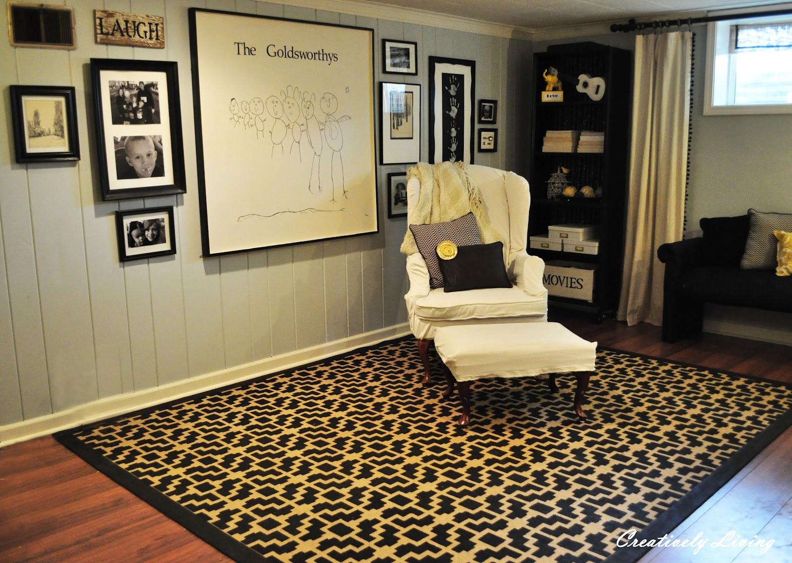 stenciled rug tutorial