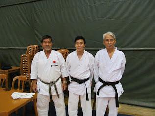 Com nossos mestres Yoshizo Machida e Yasutaka Tanaka