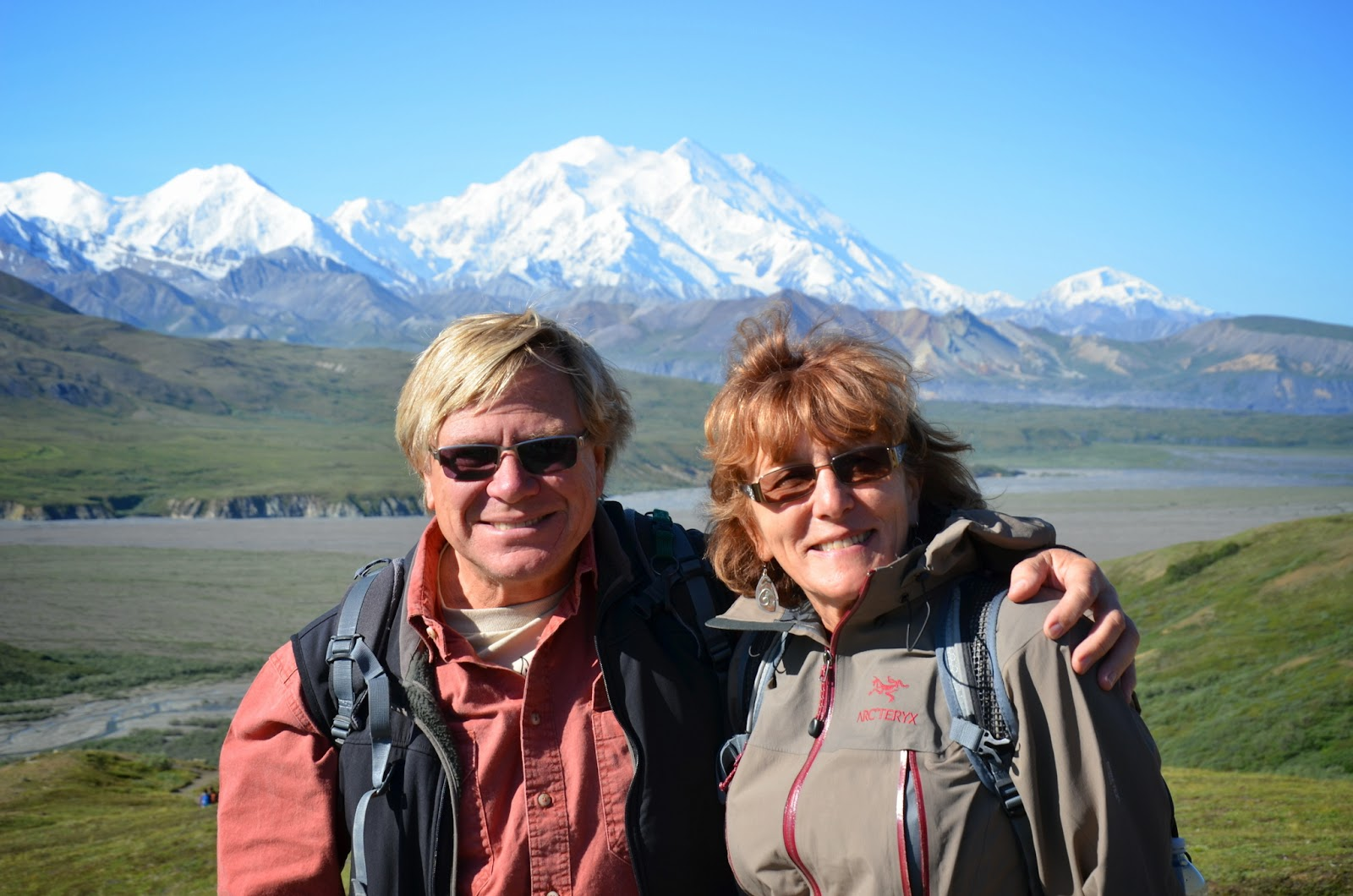Anders and Liz, Denali in the backdrop.